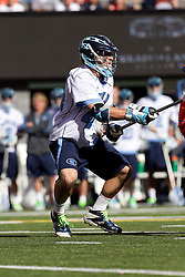 10 April 2010: North Carolina Tar Heels midfielder Chris Layne (44) during a 7-5 loss to the Virginia Cavaliers at the New Meadowlands Stadium in the Meadowlands, NJ.