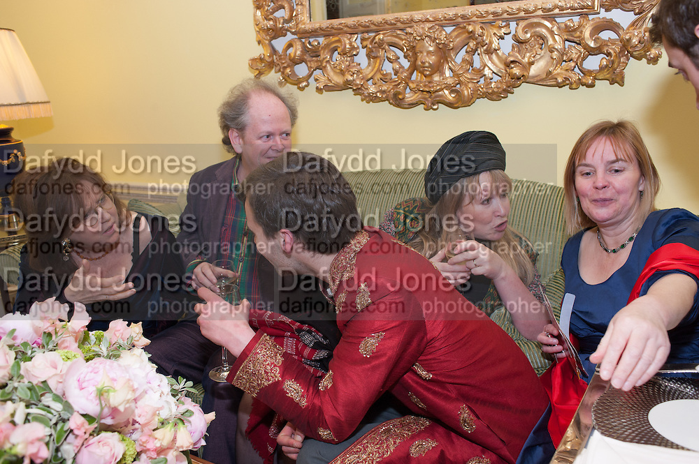 FRANCES WELCH; CRAIG BROWN; GEORGE BINNING; MARY KILLEN, Tatler magazine Jubilee party with Thomas Pink. The Ritz, Piccadilly. London. 2 May 2012