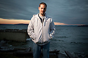 Josh Powell.  Josh's wife Susan disappeared from their home in Dec 2009.  Photographed at home of Steve Powell (Josh's father) near Tacoma WA for People Magazine. On Sunday Feb 5 2012, Josh Powell caused an explosion in his home, killing himself and his two children Charles and Braden.