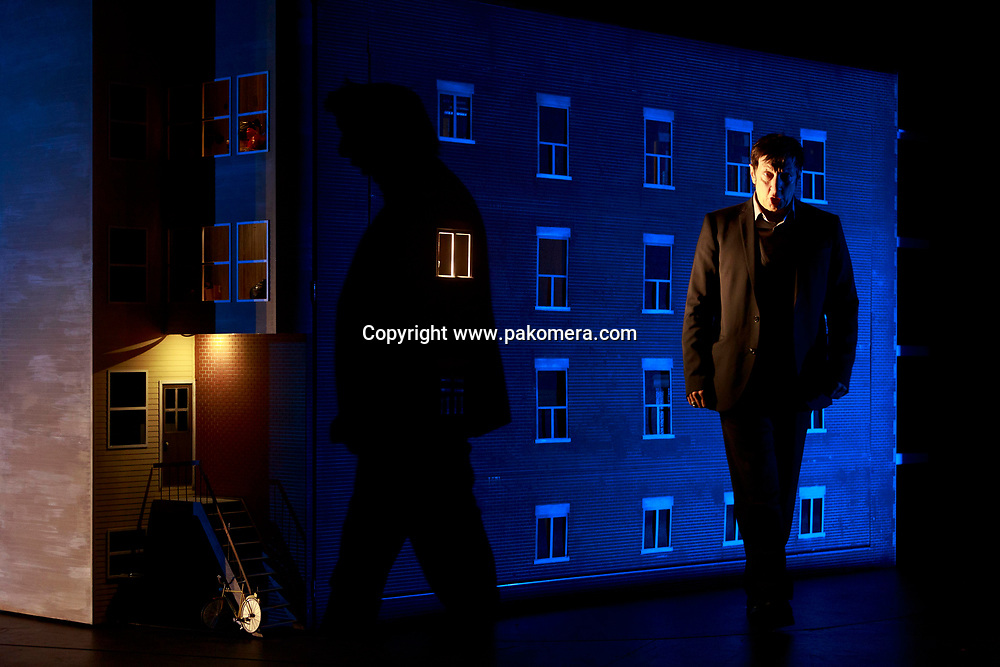Edinburgh. UK. 12th August. Photo call 887 on stage Robert Lepage. As part of Edinburgh International Festival 887. Written, designed, directed and performed by Robert Lepage. Pictured Robert Lepage. Pako Mera/Alamy Live News.