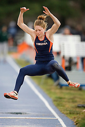 Virginia Cavaliers Katie Terschel placed second in the long jump. The University of Virginia Track and Field team hosted the 2007 Lou Onesty Invitational Track Meet at the University of Virginia in Charlottesville, VA on April 14, 2007.