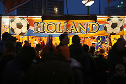 A general view of a merchandise stand during the international friendly match at the Amsterdam ArenA.