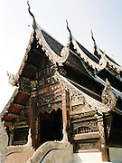 Wat Ton Kwen, also known as Wat Intawat, a prime example of Lanna temple architecture