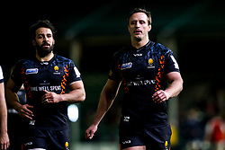 Anton Bresler of Worcester Warriors and Marco Mama of Worcester Warriors - Mandatory by-line: Robbie Stephenson/JMP - 17/01/2020 - RUGBY - Sixways Stadium - Worcester, England - Worcester Warriors v Castres Olympique - European Rugby Challenge Cup