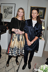 Left to right, CLEMENTINE FRASER and  CHRISTA D'SOUZA at a lunch hosted by Roger Vivier held at Bella Pollen's home, 5 Stanley Crescent , London on 29th January 2013.