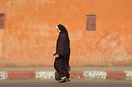 Woman with headscarf in Marrakesh