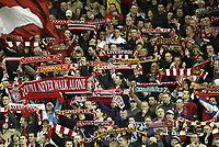 Photo Aidan Ellis.<br /> Liverpool v Middlesbrough<br /> Carling Cup 4th rd.<br /> 10/11/2004.<br /> Liverpool's Kop end pay tribute to Emelyn Hughes