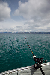 """Fishing Pole at Lake Tahoe"" - This fishing pole on a boat was photographed on the west shore of Lake Tahoe, CA."