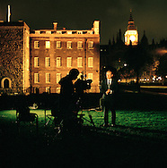 UK. London. The Village Green: From Blair to Brexit.<br /> A story on the relationship between the Media, Politicians and the public as they come together on College Green, a small patch of land next to The Houses of Parliament in Westminster. <br /> Photo shows Andrew Marr from the BBC informing the masses.<br /> Photo&copy;Steve Forrest/Workers' Photos