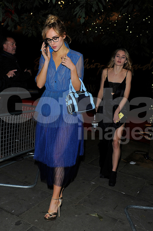 Suki Waterhouse and Immy Waterhouse attend the British Fashion Awards at London Coliseum, UK. 01/12/2014<br /> BYLINE MUST READ : GOTCHAIMAGES.COM<br /> <br /> Copyright by &copy; Gotcha Images Ltd. All rights reserved.<br /> Usage of this image is conditional upon the acceptance <br /> of Gotcha Images Ltd, terms and conditions available at<br /> www.gotchaimages.com