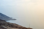 DEAD SEA,JORDAN- A view from the hills of the West Bank in Macherus on a rare, cloudy day.