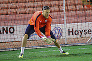York City goalkeeper Michael Ingham during the Johnstone's Paint Trophy match between Barnsley and York City at Oakwell, Barnsley, England on 10 November 2015. Photo by Simon Davies.