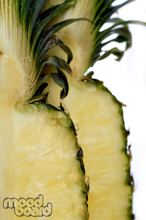 Close up of pineapple on white background