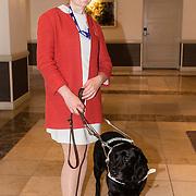 NLD/Scheveningen/20160713 - Perspresentatie sporters voor de Olympische Spelen 2016 in Rio de Janeiro, Larissa  Klaassen en hulphond