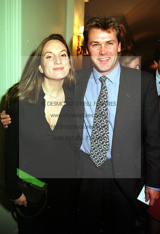 MISS EMILY OPPENHEIMER and the HON.SIMON HEMPLE, at a party in London on 9th November 1999.MYW 72