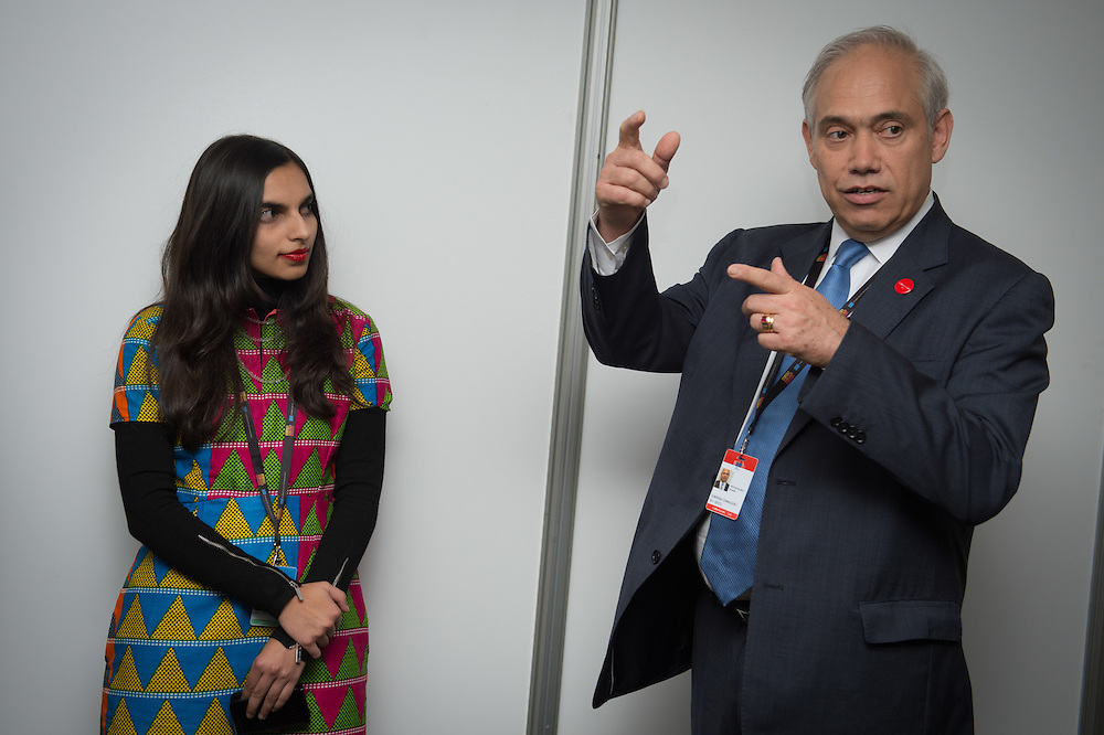 03 June 2015 - Belgium - Brussels - European Development Days - EDD - Meeting with the future leaders - Fernando Frutuoso de Melo , General Director for International Corporation and Development of European Commission - Shakira Choonara , Future leader © European Union