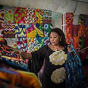 Lydie Malingumu preparing some cloths for the Kinshasa Fashion Week, the most important fashion event in DRC. CAPTA/FEDERICO SCOPPACAPTA/FEDERICO SCOPPA