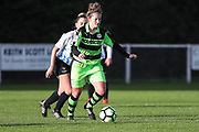 Forest Green Rovers Libby Timney(4) on the ball during the South West Womens Premier League match between Forest Greeen Rovers Ladies and Marine Academy Plymouth LFC at Slimbridge FC, United Kingdom on 5 November 2017. Photo by Shane Healey.