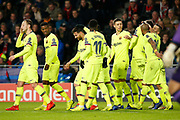 Barcelona celebrating the 0-2 during the UEFA Champions League, Group B football match between PSV Eindhoven and FC Barcelona on November 28, 2018 at Philips Stadium in Eindhoven, Netherlands - Photo Thomas Bakker / Pro Shots / ProSportsImages / DPPI