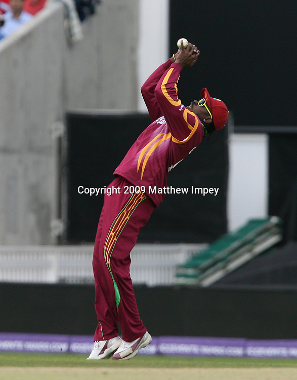 Chris Gayle of the West Indies takes a catch to dismiss AB De Villiers of South Africa off the bowling of Jerome Taylor. West Indies v South Africa, World T20, Cricket, The Oval, 13/06/2009 © Matthew Impey/Wiredphotos.co.uk. tel: 07789 130 347 email: matt@wiredphotos.co.uk