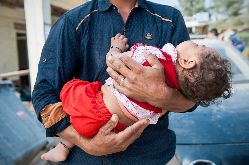 Hamid 7 months old from Chardere district of Afghanistan in Moria camp, Lesvos, Greece