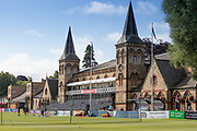 The Pavillion before Specsavers County Champ Div 2 match between Gloucestershire County Cricket Club and Leicestershire County Cricket Club at the Cheltenham College Ground, Cheltenham, United Kingdom on 15 July 2019.