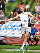 Zach Ziemek (USA) throws 161-11 (49.36m) in the discus during the decathlon at the DecaStar meeting, Saturday, June 23, 2019, in Talence, France.  Ziemek placed second with 8,344 points. (Jiro Mochizuki/Image of Sport)
