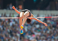 Athletics - 2017 IAAF London World Athletics Championships - Day Eight, Morning Session<br /> <br /> Mens High Jump - Qualification<br /> <br /> Takashi Eto (Japan)  clears the high bar at the London Stadium<br /> <br /> COLORSPORT/DANIEL BEARHAM