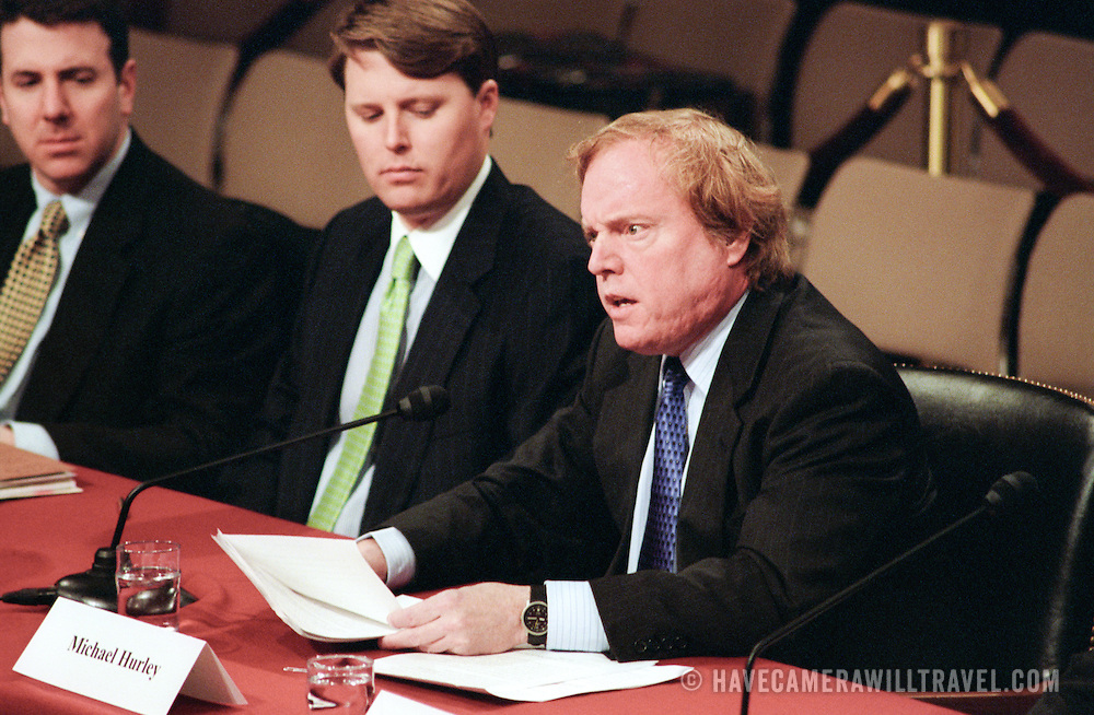 Commission staffer Michael Hurley delivers a Sate Statement during the 9/11 Commission's Public Hearing Number 8.