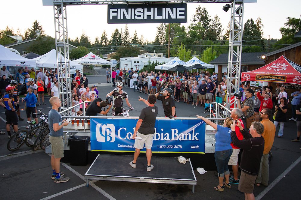 Drink-off at the finish line.  © Brian Nelson