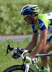 Gorazd Stangelj  (SLO) of Liquigas at 1st stage of Tour de Slovenie 2009 from Koper (SLO) to Villach (AUT),  229 km, on June 18 2009, in Koper, Slovenia. (Photo by Vid Ponikvar / Sportida)