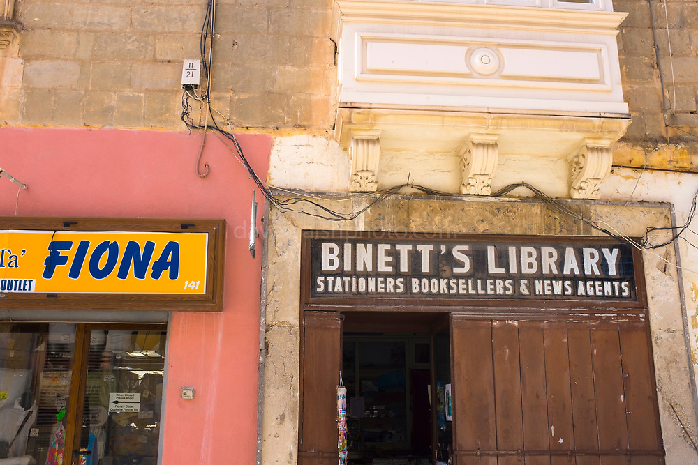 Binett's Library, Stations, Booksellers & News Agents. Bookshop, Sliema, Malta