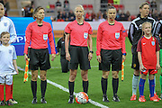 Gyongyi Gaal (Hungary) before the Euro 2017 qualifier between England Ladies and Belgium Ladies at the New York Stadium, Rotherham, England on 8 April 2016. Photo by Mark P Doherty.