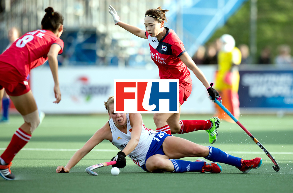 AUCKLAND - Sentinel Hockey World League final women<br /> Match id 10321<br /> Korea v England Bronze 1-0<br /> Korean win Bronz<br /> Foto:  Giselle Ansley <br /> WORLDSPORTPICS COPYRIGHT FRANK UIJLENBROEK