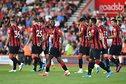 Jefferson Lerma celebrates his goal for Bournemouth*** during the Pre-Season Friendly match between Bournemouth and SS Lazio at the Vitality Stadium, Bournemouth, England on 2 August 2019.