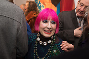 ZANDRA RHODES, Them, Redfern Gallery PV. Cork St. London. 22 January 2020