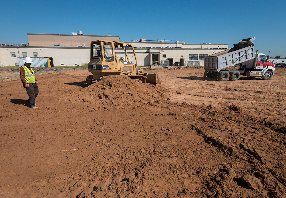 Construction at Lee High School, October 19, 2015.