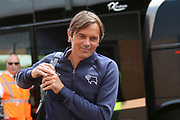 Derby County Manager Phillip Cocu arrives at the Pirelli Stadium during the Pre-Season Friendly match between Burton Albion and Derby County at the Pirelli Stadium, Burton upon Trent, England on 20 July 2019.