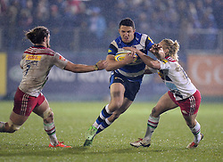 Sam Burgess of Bath Rugby in action. - Photo mandatory by-line: Alex James/JMP - Mobile: 07966 386802 - 28/11/2014 - SPORT - Rugby - Bath - Recreation Ground - Bath  v Harlequins  - Aviva premiership