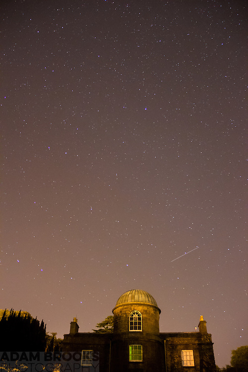 The night sky over Armagh Observatory including Ursa Major (The Big Dipper) and Polaris, the North star