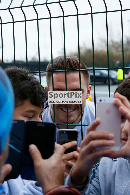 Jack Butland gets a few selfies with the fans before Stoke City v Manchester United, Barclays Premier League, Saturday 26th December 2015, Britannia Stadium, Stoke