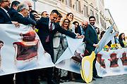 Luigi Di Maio. Deputati del Movimento 5 Stelle festeggiano l'approvazione della riforma costituzionale che prevede il taglio dei parlamentari. Roma 08 Febbraio 2019. Christian Mantuano / OneShot