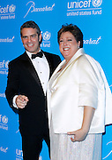 Andy Cohen and Caryl Stern attend the 7th Annual UNICEF Snowflake Ball at Cipriani 42nd Street in New York City, New York on November 29, 2011.