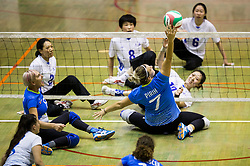 Larisa Pirih of Slovenia during friendly Sitting Volleyball match between National teams of Slovenia and China, on October 22, 2017 in Sempeter pri Zalcu, Slovenia. (Photo by Vid Ponikvar / Sportida)