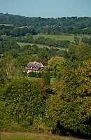 Landscape with country house in Normandy, France