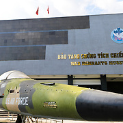An American F-111 bomber on display in the main coutyard outside the War Remnants Museum in Ho Chi Minh City (Saigon), Vietnam.