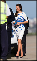 The Duke and Duchess of Cambridge leave Sydney en route to Brisbane to continue their Royal Visit to Australia on day 13 of their Royal Tour of New Zealand and Australia, Saturday, 19th April 2014. Picture by  i-Images / i-Images