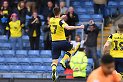 Oxford United midfielder James Henry (17) scores a goal and celebrates  1-0 during the EFL Sky Bet League 1 match between Oxford United and Doncaster Rovers at the Kassam Stadium, Oxford, England on 12 October 2019.