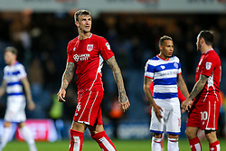 Aden Flint of Bristol City looks dejected after they lose 1-0 - Rogan Thomson/JMP - 18/10/2016 - FOOTBALL - Loftus Road Stadium - London, England - Queens Park Rangers v Bristol City - Sky Bet EFL Championship.