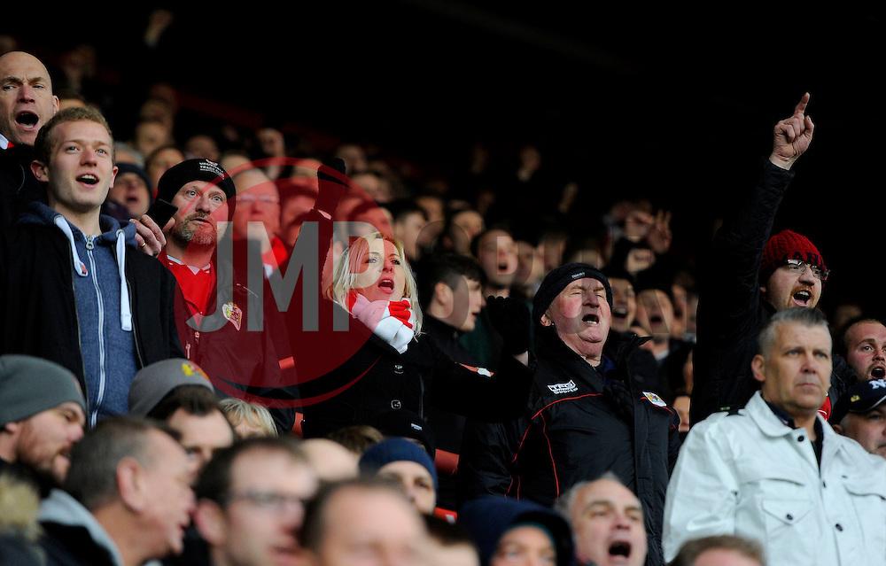 Bristol City fans  - Mandatory byline: Joe Meredith/JMP - 19/03/2016 - FOOTBALL - Ashton Gate - Bristol, England - Bristol City v Bolton Wanderers - Sky Bet Championship